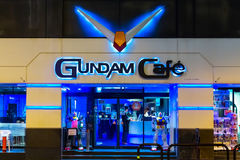 Gundam Cafe at Akihabara in Tokyo, Japan. TOKYO, JAPAN - NOVEMBER 25 2015: Opened in 2010, Gundam Cafe is a miniature Gundam theme park-like cafe situated in Royalty Free Stock Photography