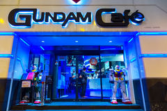 Gundam Cafe at Akihabara in Tokyo, Japan. TOKYO, JAPAN - NOVEMBER 25 2015: Opened in 2010, Gundam Cafe is a miniature Gundam theme park-like cafe situated in Stock Photo