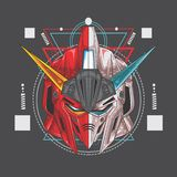 gundam de 2 visages illustration libre de droits