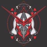 Assassin gundam head vector illustration