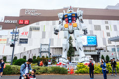 Gundam a grandezza naturale Fotografia Stock Libera da Diritti