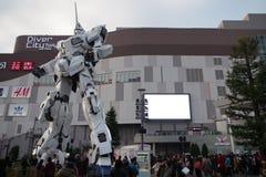 Gundam jednorożec statua w Odaiba Obraz Stock