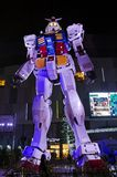 A Gundam life-size replica, 18 meters high Stock Photos