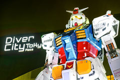 Gundam model RX-78-2 at Gundam Front Tokyo, Japan. Located in Odaiba, a man-made island situated in Tokyo Bay, Gundam Front Tokyo is one of Tokyo's newest royalty free stock image