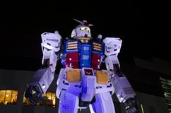 Gundam in Odaiba City Stock Photography