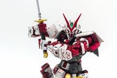 Gundam plast- modell Arkivfoton
