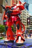 Gundam przypala zaku II obraz stock