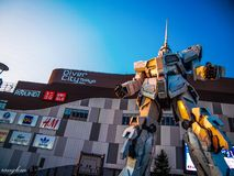 Gundam robot that has become popular with both kids and adults who love to spend time together. royalty free stock images