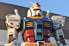 Gundam robot replica. In Tokyo. The sculpture is 18m tall and is the tallest replica of famous anime franchise robot, Gundam Royalty Free Stock Photography
