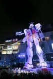 Gundam statua przed nurka miastem, Odaiba, Tokio Obraz Stock