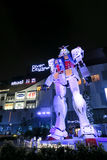 Gundam statue in front of Diver City, Odaiba, Tokyo Stock Image