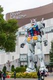 Gundam statue life size standing in Odaiba Royalty Free Stock Photo