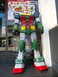 Gundam Statue. Gundam is a transformer character popular in Japan Royalty Free Stock Image