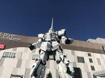 Gundam staty i Odaiba, Japan royaltyfri foto