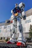 Gundam staty på odaibadykarestaden Royaltyfri Bild
