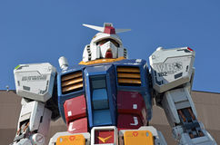 Gundamstandbeeld in Odaiba, Japan royalty-vrije stock foto's