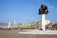 Gundogdu meydani纪念碑,伊兹密尔,土耳其 库存照片