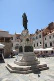 Gundulic fyrkantig Dubrovnik Kroatien Arkivbilder