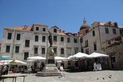 Gundulic fyrkantig Dubrovnik Kroatien Royaltyfri Fotografi