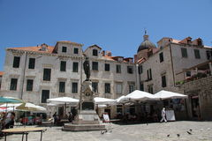 Gundulic Square Dubrovnik Croatia Royalty Free Stock Photography
