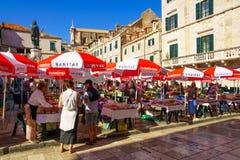 Gunduliceva Poljana Square, Dubrovnik Stock Photo