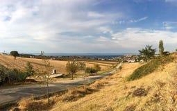 Guneyli byhamn i den Gelibolu panapomaen Den Macedonian staden av Callipolis grundades i Arkivfoto
