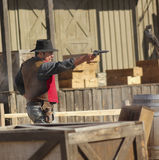 A Gunfight at Old Tucson, Tucson, Arizona Royalty Free Stock Photo