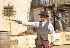 A Gunfight at Old Tucson, Tucson, Arizona Stock Photos