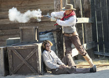 A Gunfight at Old Tucson, Tucson, Arizona Royalty Free Stock Photography