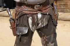 Gunfighter ad ovest selvaggio Fotografie Stock Libere da Diritti