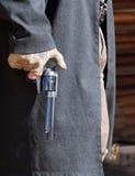 Gunfighter is klaar Royalty-vrije Stock Foto's