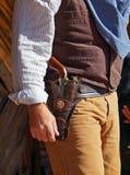 Gunfighter is klaar te trekken Royalty-vrije Stock Foto's