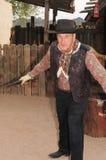 Gunfighter ocidental idoso imagens de stock royalty free