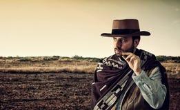 Gunfighter van het wilde westen stock foto's