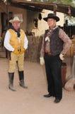 Gunfighters ocidentais americanos idosos foto de stock