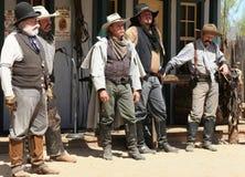 Gunfighters ocidentais selvagens idosos Fotografia de Stock