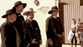 Gunfighters in the Wild West Town of Tombstone, Arizona Stock Photography
