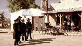 Gunfighters in the Wild West Town of Tombstone, Arizona Stock Images