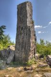 Gunflint Trail in Superior National Forest, Minnesota. Gunflint trail is a 50 mile road winding through the Superior National Forest with no towns royalty free stock photography