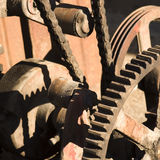Gungу mechanism. Old rusty gungу pinion mechanism Stock Photography