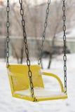 Gunga i en snow Arkivfoto