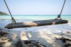 Gunga på stranden Arkivfoton