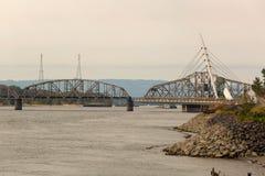 Gungastålbro på port av Vancouver Washington Arkivbild