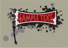 Gunge banner grungy splash  royalty free illustration
