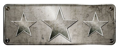 Gunge chrome 3 star banner Stock Photos