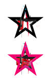 Gunge star icons Royalty Free Stock Photo