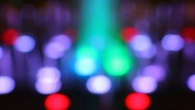 Gungning ljusa Bokeh av den LEDDE lampan lager videofilmer