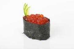 Gunkan con il caviale di color salmone Fotografia Stock