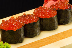 Gunkan sushi Arkivfoto