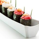 Gunkan Sushi Stockfoto